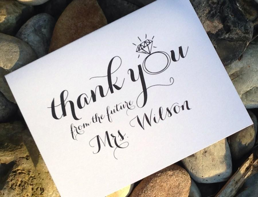 Wedding Bridal Shower Thank You Cards, Thank You From The Future Mrs