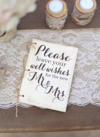 Rustic Wedding Guest Book Hipster Bridal Shower Keepsake ...