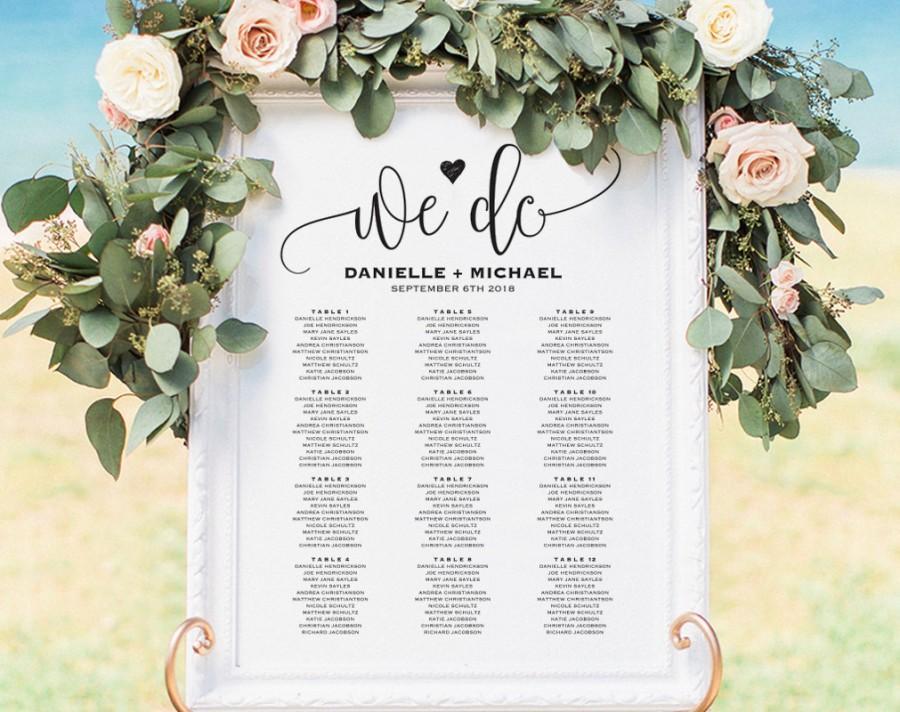 Wedding Seating Chart Sign, Seating Chart Printable, Seating Chart