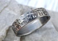 Viking Mens Ring Silver, Industrial Wedding Band Mens ...