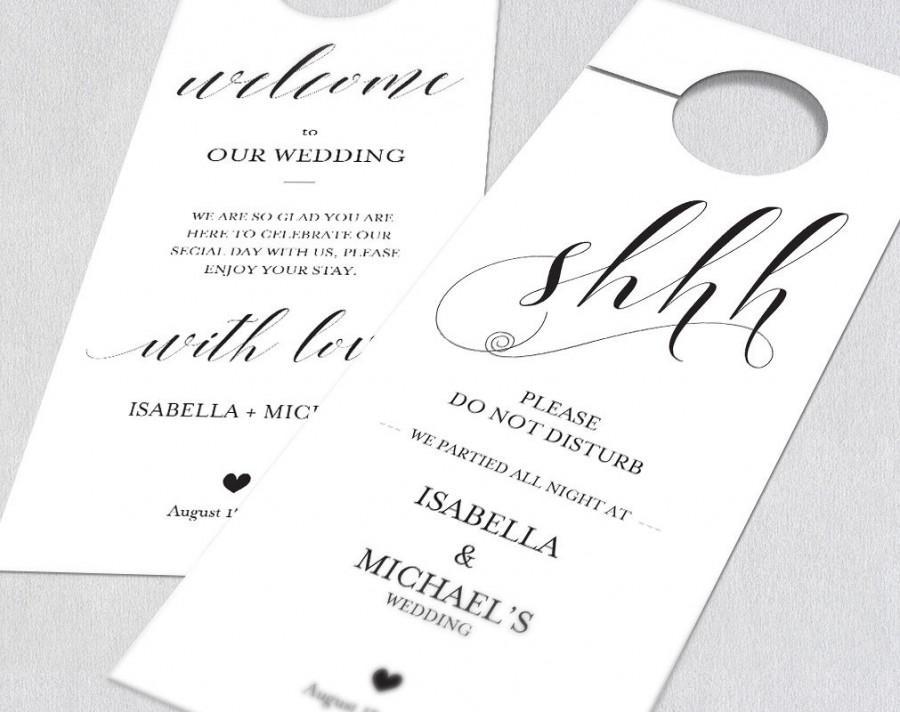 Wedding Door Hanger, Door Hanger Printable, Please Do Not Disturb
