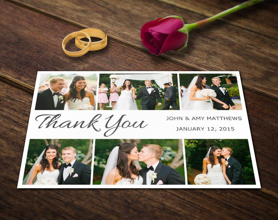 Wedding Thank You Card Template - Photoshop Templates - Photography