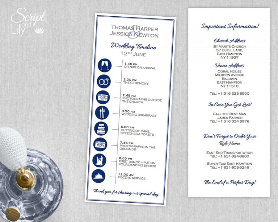 Invitation - Custom Wedding Timeline (Printable) DIY #2598548 - Weddbook
