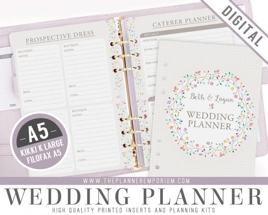 A5 Ultimate Wedding Planner Organizer Kit - Instant Download