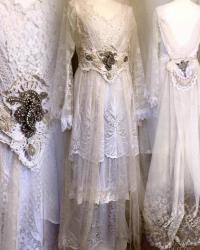 Whimsical Wedding Dress,airy Tulle,french Lace,beautiful ...