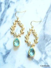 Bridal Earrings Gold Turquoise Modern Dangle Earrings ...