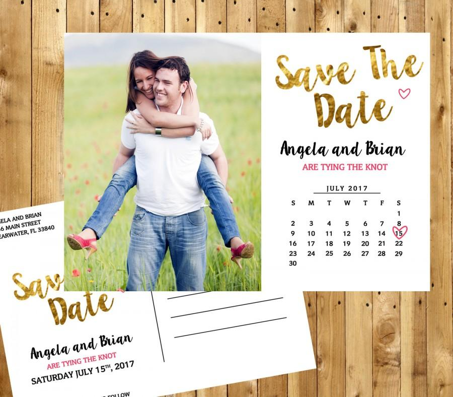 Save The Date Cards, Save The Date Printable, Save The Date Calendar
