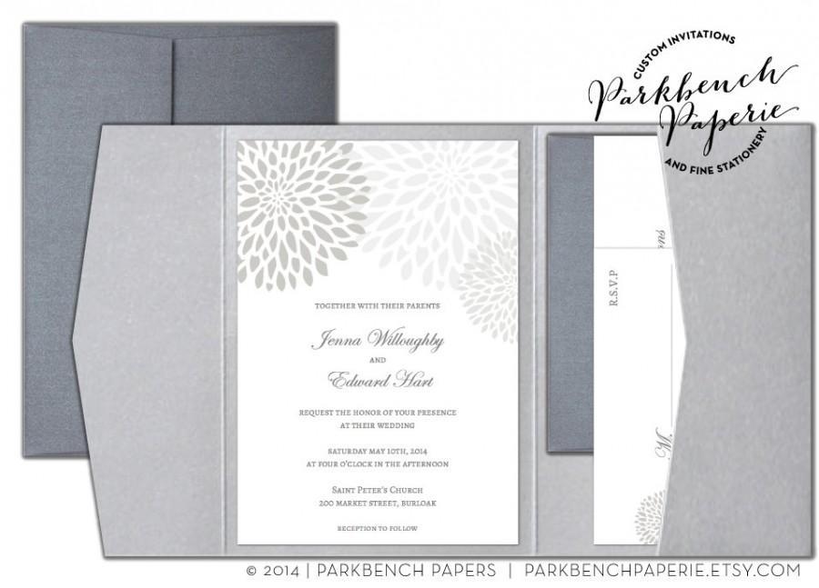 Editable Wedding Invitation, RSVP Card, And Insert Card- Pocket Fold