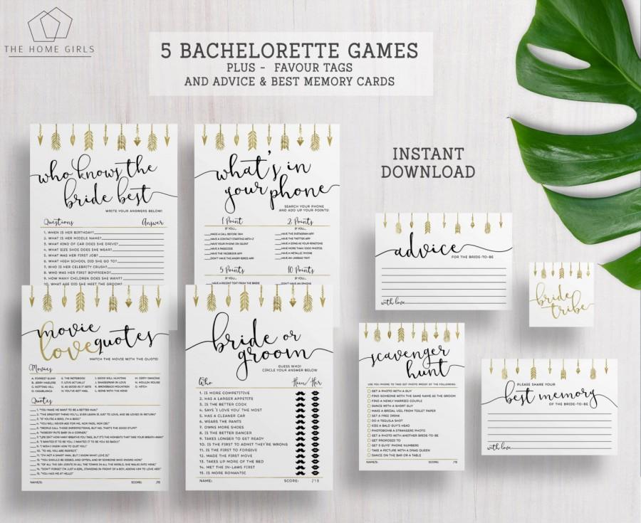 Bride Tribe Games / Bachelorette Hens Party Games / Bridal Shower