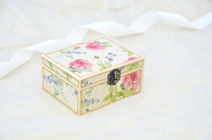 Ring Box Floral Wedding Decor Easter Gift Small