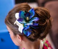 BLUE ORCHID HAIR Clip, Wedding Headpiece, Hair Flowers ...