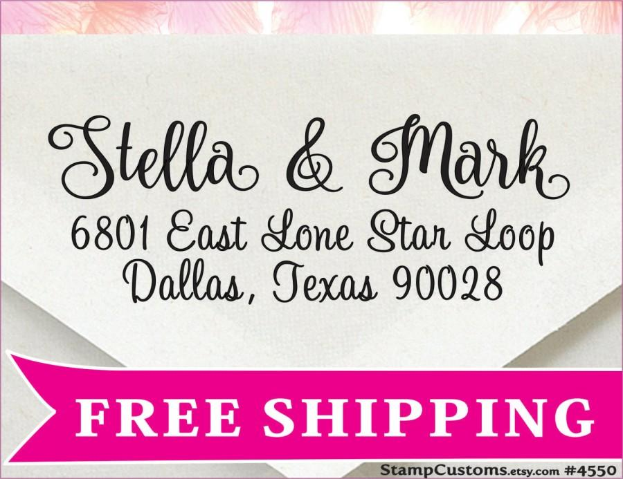 Wedding Address Stamp - 4550 - Return Address Envelopes For Save The