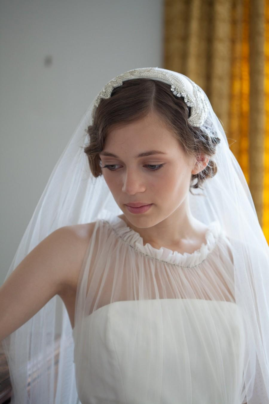 Bräutigam Vintage Look Wedding Headpiece And Veil Vintage Style Bridal Headpiece And