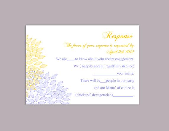 DIY Wedding RSVP Template Editable Text Word File Download Rsvp