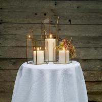 Gold Candle Holder, Lighting, Wedding Centerpiece, Stained ...