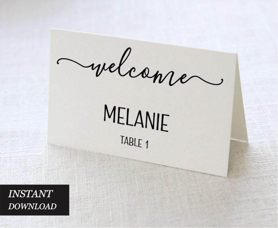 Wedding Place Cards, Wedding Place Card Printable, Place Card - place card template