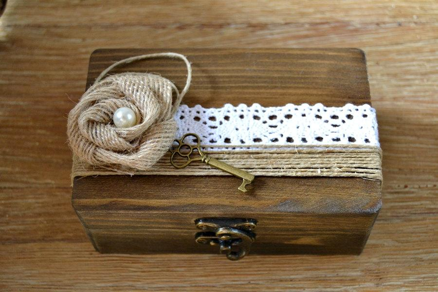 Wedding Ring Box Personalized Rustic Vintage Ring Holder
