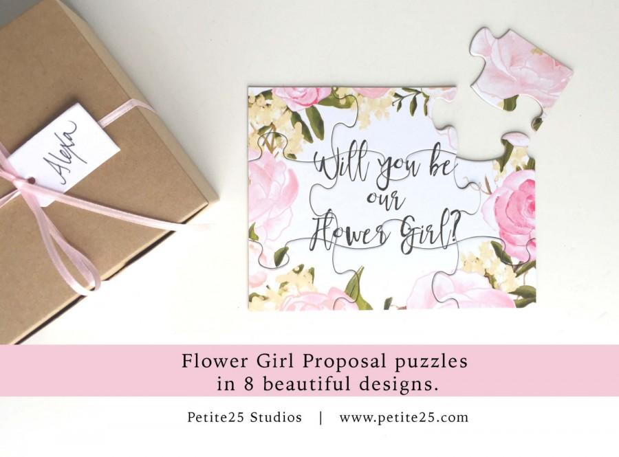 Will You Be My Flower Girl, Puzzle, Bridal Party Proposal, Flower - party proposal