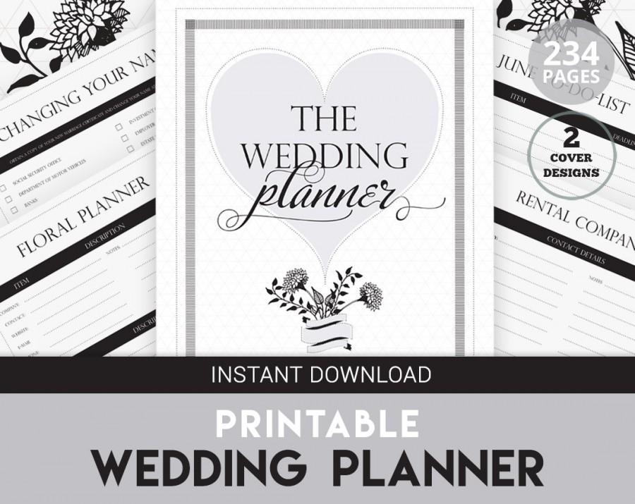 Wedding Planner Printable - DIY Wedding Organizer - Printable