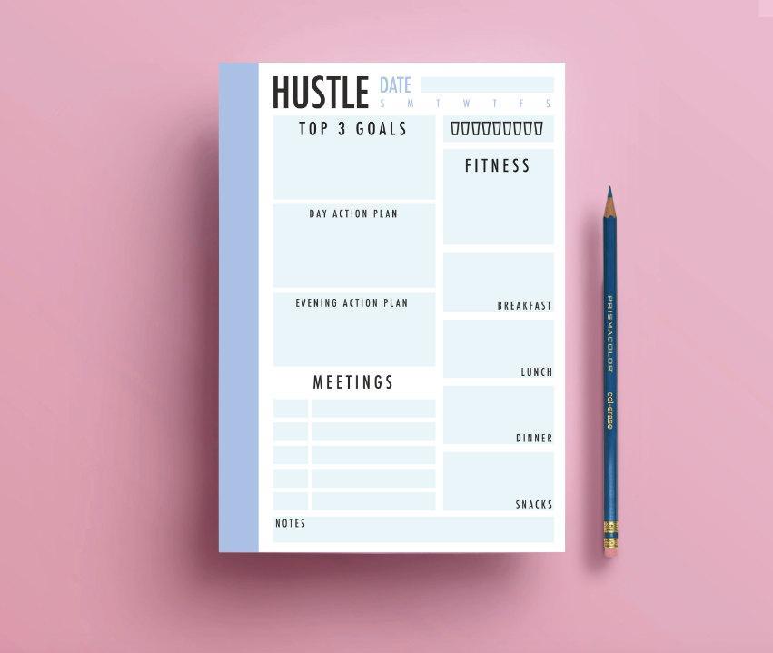 Day Planner - Printable Planner - Digital Downloadable, Instant