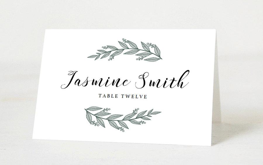 Editable Wedding Place Cards Template Printable Place Cards Wedding