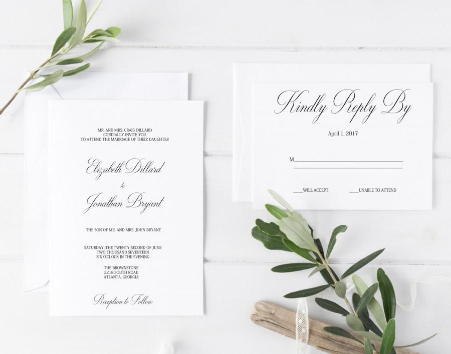 Wedding Invitation Template, Printable Wedding Invitations
