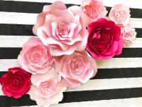 Kate Spade Inspired Paper Flower Wall Decor, Large Paper ...