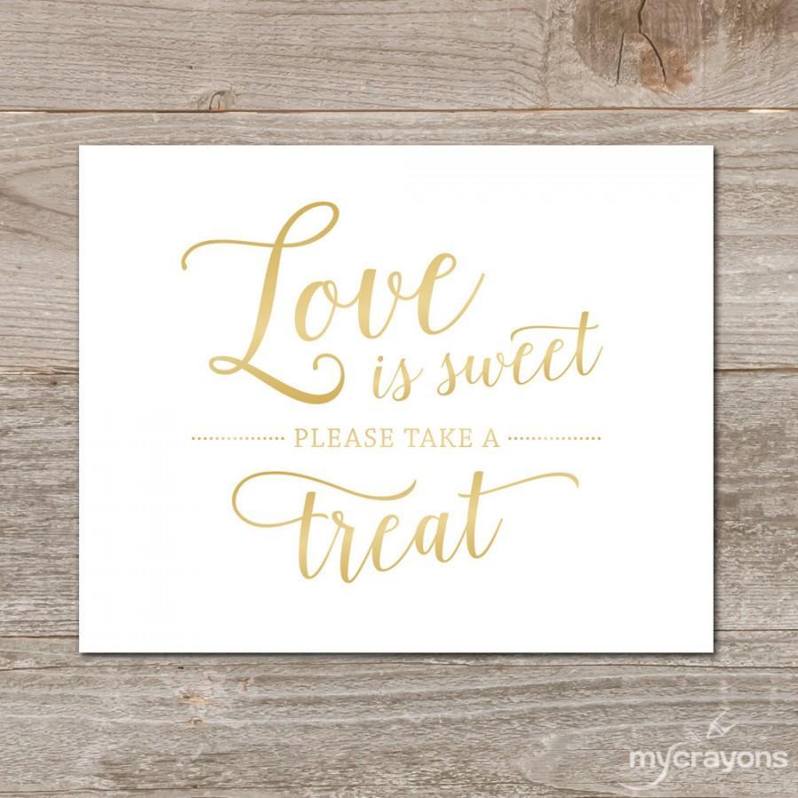 Wedding Gift Bag Wording : ... Wedding Sign Printable Printable Love Is Sweet Sign Wedding Favor Sign