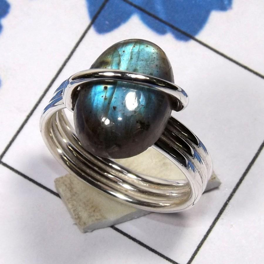 rainbow moonstone ring in 14k white gold moonstone engagement ring anniver labradorite wedding ring Il fullxfull goom small