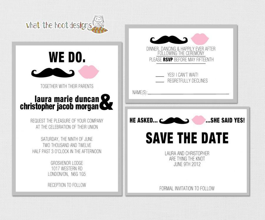 Printable/DIY Wedding Invitation, Response Card And Save The Date