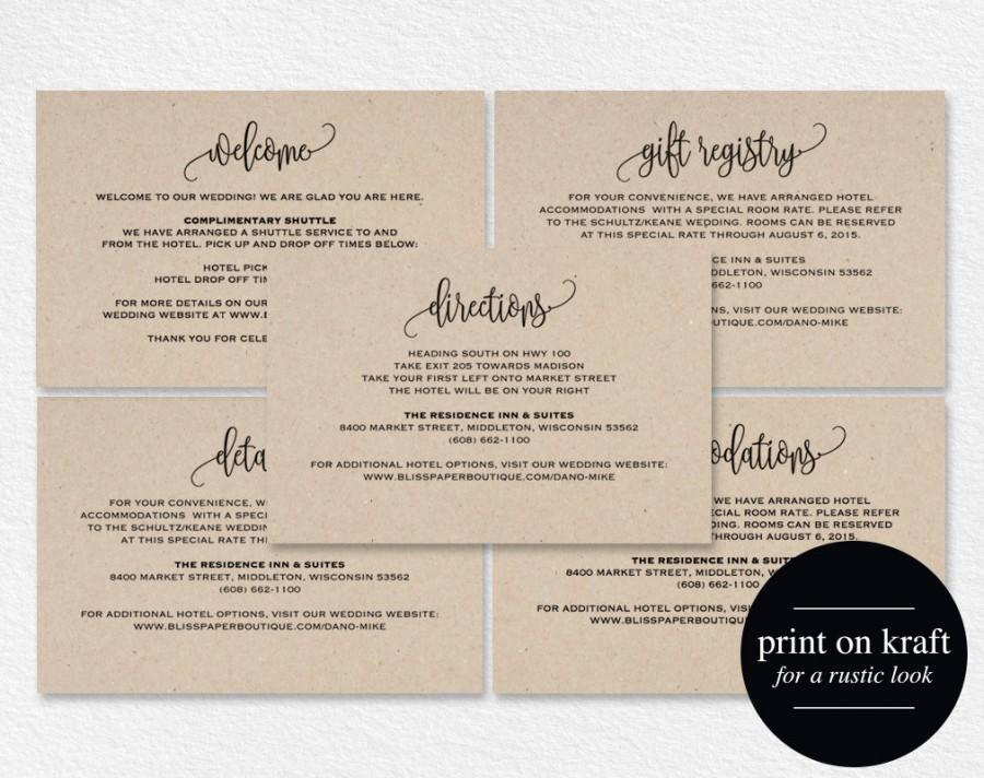 Enclosure Cards, Details Card, Directions Card, Gift Registry Card