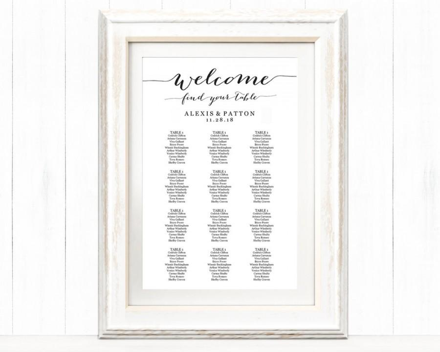 wedding seating chart posters - Intoanysearch
