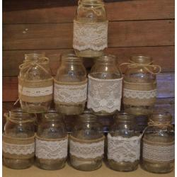 Lovable Burlap Mason Jar Diy Wedding Rustic Burlap Lace Burlap Mason Jar Diy Wedding Rustic Wedding Rustic Wedding Decorations To Buy Rustic Wedding Decorations On A Budget