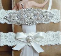 Petite To Plus Size Wedding Garter Set, Bridal Garter ...