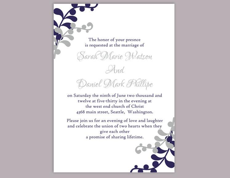 Wedding Invitation Template Download Printable Invitations Editable