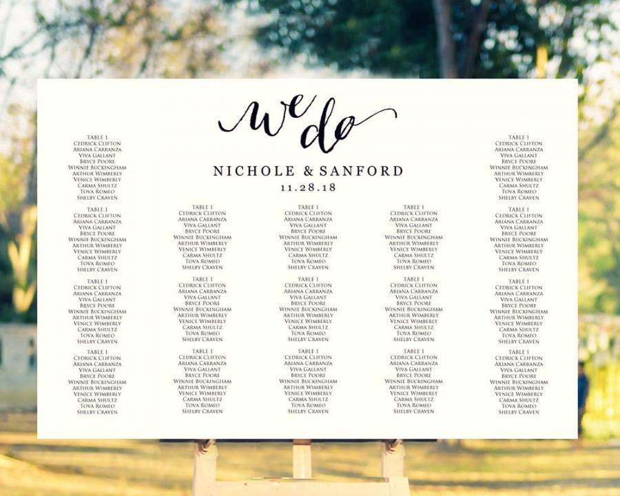 We Do Wedding Seating Chart Template In FOUR Sizes, Wedding Sign