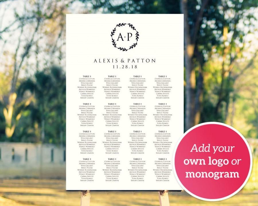 wedding seating chart poster template free - Vatozatozdevelopment