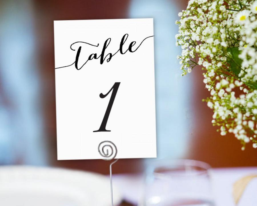 Table Numbers Printable 1-40 Template In TWO Sizes, Wedding Table