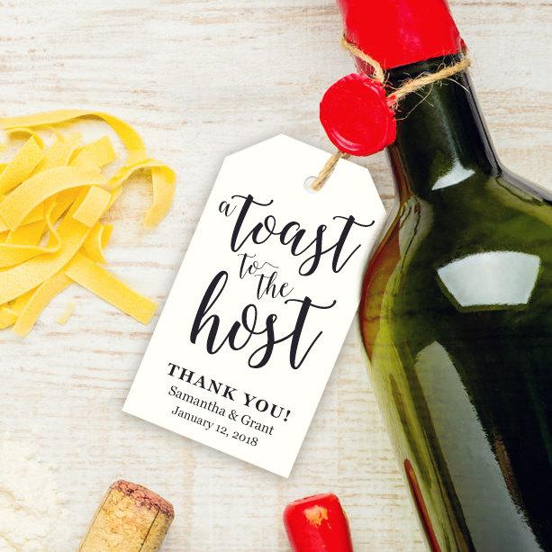 A Toast To The Host Tag Template ~ 25\ - wine tag template