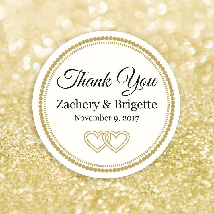 Thank You Label Template, Editable Printable Round Label, Circle