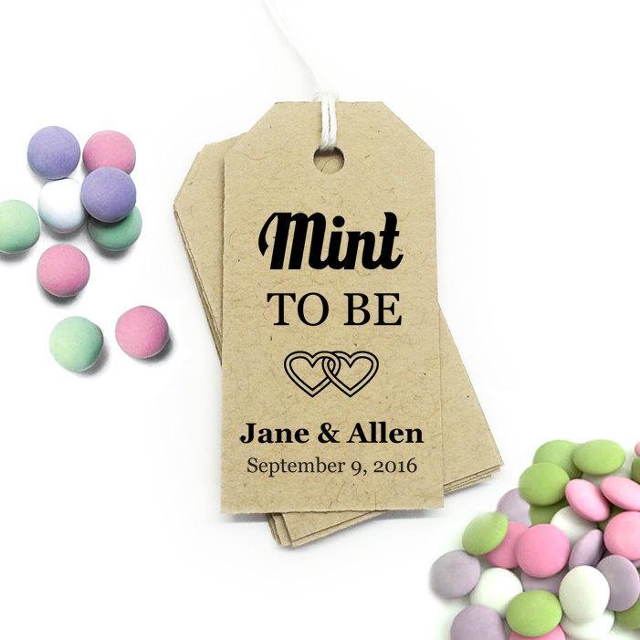 Mint To Be Tag Editable Template ~ SMALL ~ DIY Printable Favor Tags