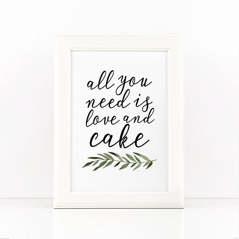 Printable Wedding Sign, Cake Sign, Printable Party Sign, Wedding