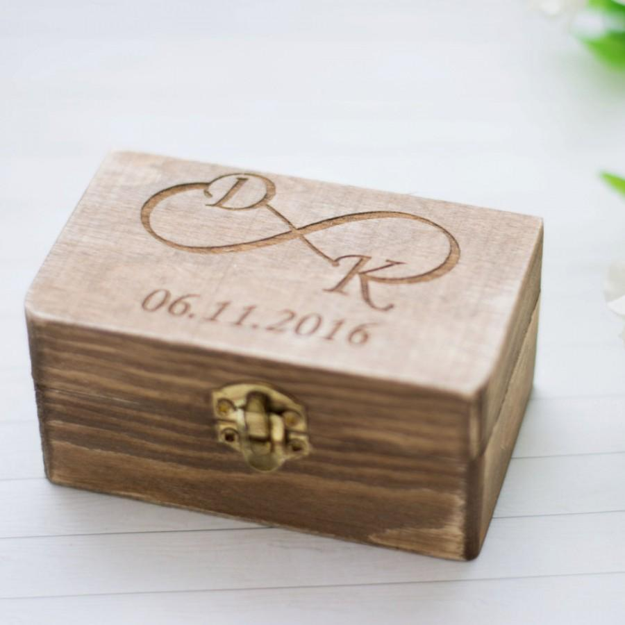 Ring Box Für Hochzeit Wedding Ring Box Rustic Wedding Ring Holder Personalized Bearer