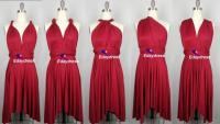 Summer Multi Way Bridesmaid Dress Infinity Dress Dark Red ...