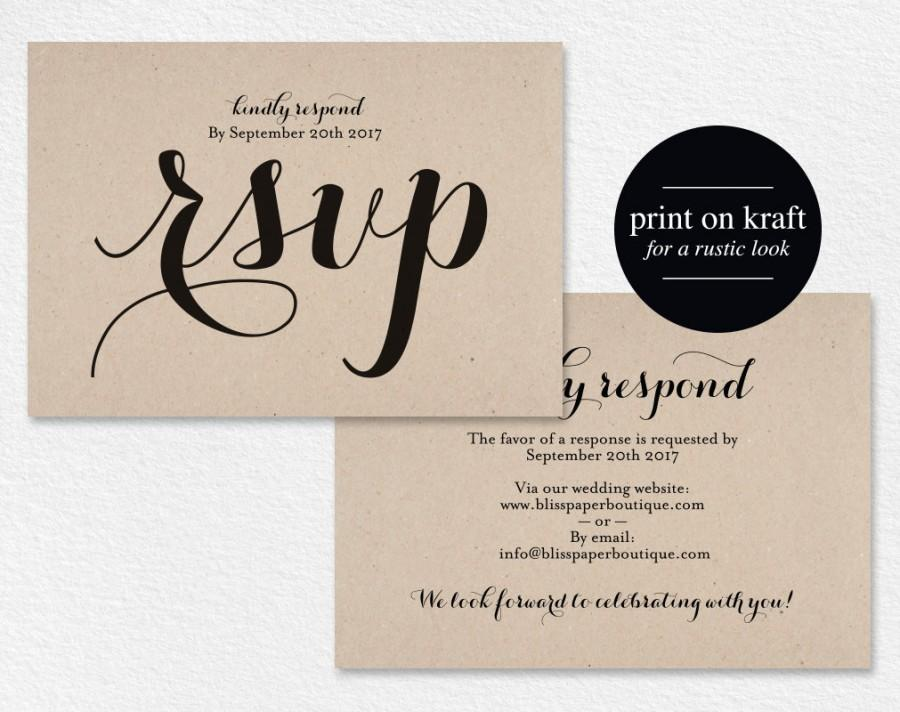 RSVP Postcard, Rsvp Template, Wedding Rsvp Cards, Wedding Rsvp