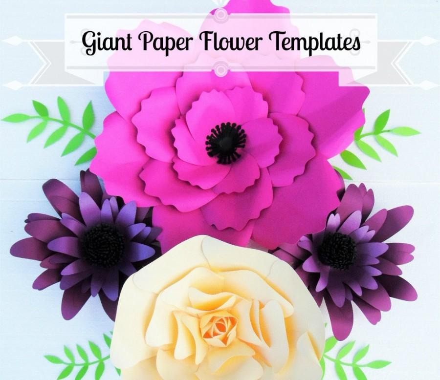 Giant Flower Templates- Giant Paper Flower Wall- SVG Flower Cutting