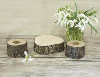 Unity Candle Holder Set, Rustic Wedding Decor, Taper And ...