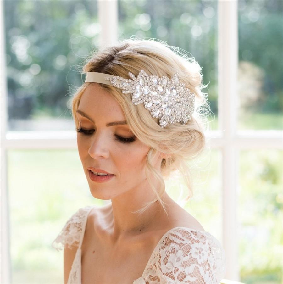 Bräutigam Vintage Look Sophia Crystal Bridal Headband Vintage Style Handmade Beautiful
