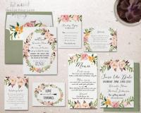Printable Wedding Invitation Set Printable Floral Wedding ...