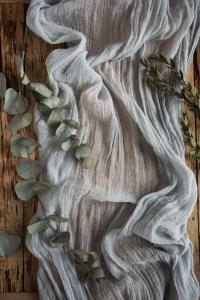 Light Grey Gauze Runner For Weddings Events, Centerpieces ...